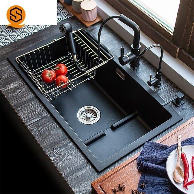 Bồn rửa bắt kết hợp với bếp