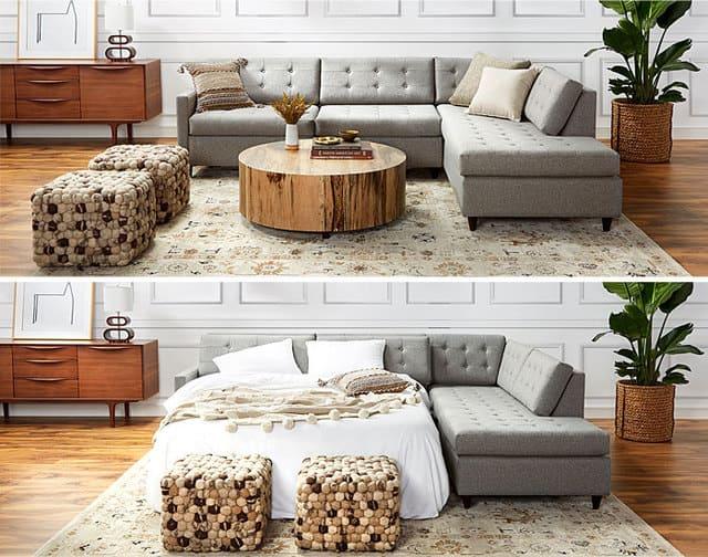 Giường ngủ ẩn trong phòng khách