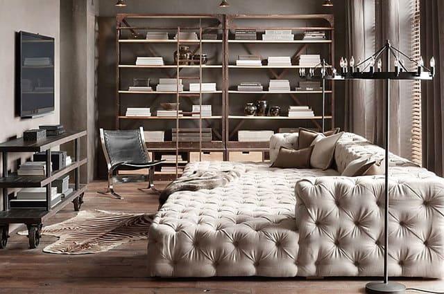 Giường ngủ kết hợp với Sofa trong phòng khách