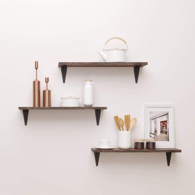 Kệ treo tường đơn giản và hiện đại cho phòng ngủ