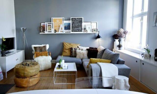 Kết hợp hài hòa giữa sofa lớn và những mẫu ghế nhỏ