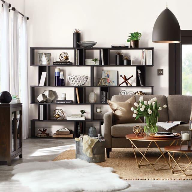 Mẫu trang trí phòng khách bằng vật dụng đa năng 2