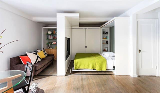 giường tủ ẩn vào tường