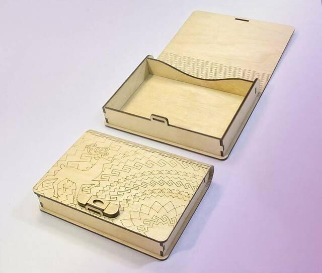hộp gỗ lưu trữ đa năng hình cuốn sách