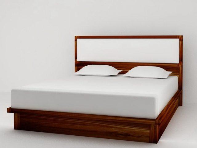 giường hộp gỗ ép vân xoan đào